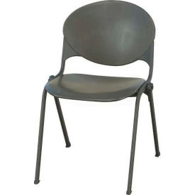 2000-P01 CHARCOAL KFI Plastic Stack Chair - Charcoal