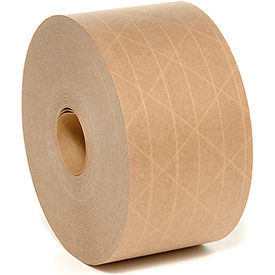 reinforced water activated tape 70mm x 375 5 mil tan Reinforced Water Activated Tape 70mm x 375 5 Mil Tan