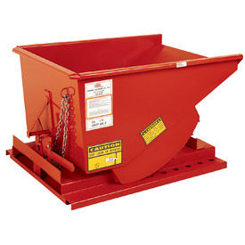 986693-Modern Equipment MECO SDHH300 3 Cu. Yd. Orange Heavy Duty Hopper