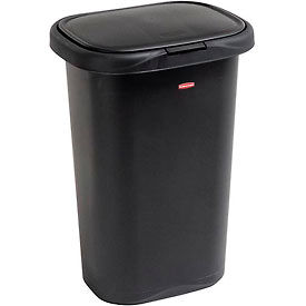 FG5L5806BLA Rubbermaid; Liner Lock; Spring Top; Wastebasket 5l58 52 Qt, Black