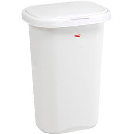 FG5L5806WHT Rubbermaid; Liner Lock; Spring Top; Wastebasket 5l58 52 Qt, White