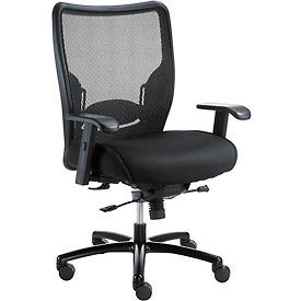277514 Big and Tall Mesh Office Chair - Fabric -High Back - Black