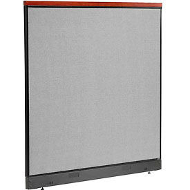 "277565NGY Deluxe Non-Electric Office Partition Panel with Raceway, 60-1/4""W x 65-1/2""H, Gray"