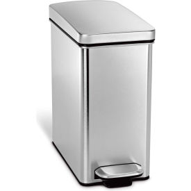 CW1898 simplehuman; Profile Step Can - 2-3/5 Gallon Brushed SS