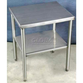 TB101127 DC Tech TB101127 24?W x 20?D x 30?H Stand-Alone Stainless Steel Table