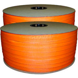 "woven polyester strapping 3/4"" x .050"" x 1650 orange Woven Polyester Strapping 3/4"" x .050"" x 1650 Orange"