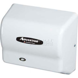 american dryer advantage series hand dryer w/ universal voltage 100-240v - steel white epoxy ad90-m American Dryer Advantage Series Hand Dryer W/ Universal Voltage 100-240V - Steel White Epoxy AD90-M