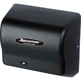 american dryer advantage series hand dryer w/ universal voltage 100-240v -steel blk graphite ad90-bg American Dryer Advantage Series Hand Dryer W/ Universal Voltage 100-240V -Steel Blk Graphite AD90-BG