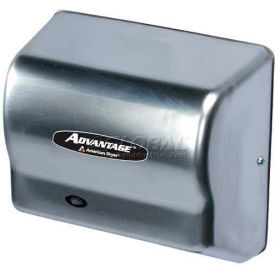 american dryer advantage series hand dryer w/ universal voltage 100-240v - stainless steel ad90-ss American Dryer Advantage Series Hand Dryer W/ Universal Voltage 100-240V - Stainless Steel AD90-SS