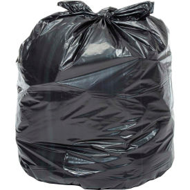 RM6141 Global Industrial; Heavy Duty Black Trash Bags - 55 to 60 Gal, 1.0 Mil, 100 Bags/Case