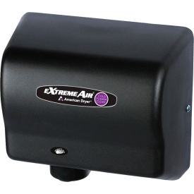 american dryer extremeair high speed hand dryer w/ germ killing technology - black graphite cpc9-bg American Dryer ExtremeAir High Speed Hand Dryer W/ Germ Killing Technology - Black Graphite CPC9-BG