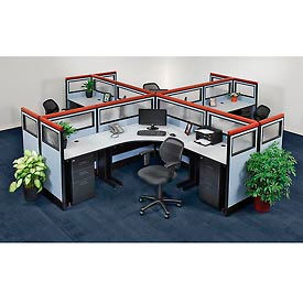 695066 Pre-Configured Office Partitions & Cubicles, 4 Person