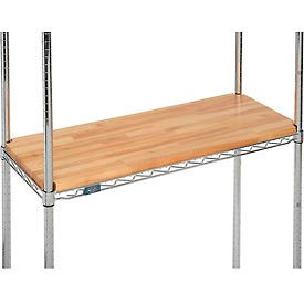 "HDO-1436V-N Hardwood Deck Overlay for Wire Shelving 36""W x 14""D x 1""Thick"