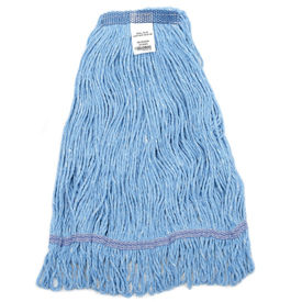 40381 Global Industrial; Small Blue Looped Mop Head, Narrow Band