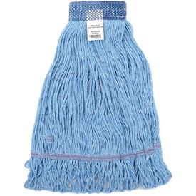 41381 Global Industrial; Small Blue Looped Mop Head, Wide Band