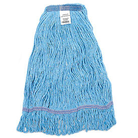 40383 Global Industrial; Large Blue Looped Mop Head, Narrow Band
