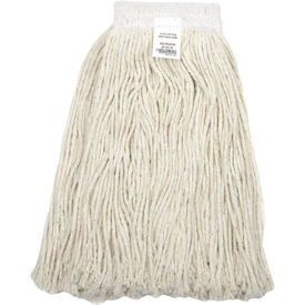 00303-WMB Global Industrial; 16 oz. Cotton Cut-End Mop Head, 4Ply, Wide Band