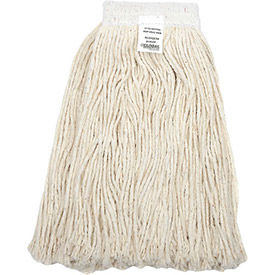 00305-WMB Global Industrial; 24 oz. Cotton Cut-End Mop Head, 4Ply, Wide Band