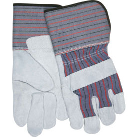 "12011 Memphis; Leather Palm Gloves with 4-1/2"" Rubberized Gauntlet Cuff, Size L, 1 Dozen"