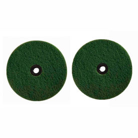 B010147 Boss Cleaning Equipment Green Scrubbing Pads 2 Pack