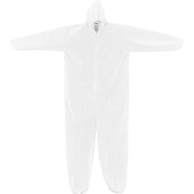 KC-MIC-60G-CVL-2XL-H Disposable Microporous Coverall, Elastic Wrists/Ankles & Hood, White, 2X-Large, 25/Case