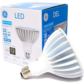 ge lighting 88810 led32dp38w830/40  led par 38 lamp, 32w, 3000k, 3000 lum, 40 degree beam angle, dim GE Lighting 88810 LED32DP38W830/40  LED Par 38 Lamp, 32W, 3000K, 3000 Lum, 40 Degree Beam Angle, Dim