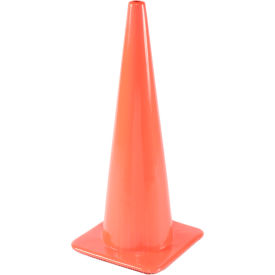 "36"" traffic cone w/ custom imprinting, non-reflective, orange, 10lbs, 3650-08-l"