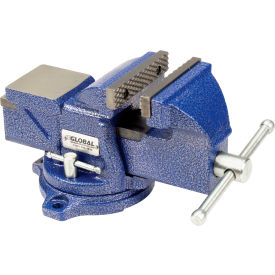 "global industrial™ 4"" jaw width 2-1/4"" throat depth general purpose bench vise w/ swivel base Global Industrial™ 4"" Jaw Width 2-1/4"" Throat Depth General Purpose Bench Vise W/ Swivel Base"