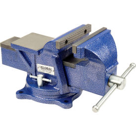 "global industrial™ 6"" jaw width 3"" throat depth general purpose bench vise w/ swivel base Global Industrial™ 6"" Jaw Width 3"" Throat Depth General Purpose Bench Vise W/ Swivel Base"