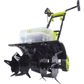 sun joe 24v-x2-tlr14 48v ion+ cordless tiller cultivator kit w/ two 2.0ah batteries & charger Sun Joe 24V-X2-TLR14 48V iON+ Cordless Tiller Cultivator Kit W/ Two 2.0Ah Batteries & Charger