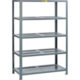 "little giant® 5shp-2436-72 heavy-duty perforated steel shelving, 24"" x 36"", 5 shelves"