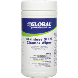 global industrial™ stainless steel cleaner wipes, 40 wipes/canister, 6 canisters/case Global Industrial™ Stainless Steel Cleaner Wipes, 40 Wipes/Canister, 6 Canisters/Case
