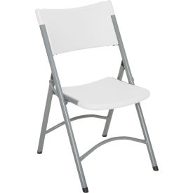interion® folding chair - blow molded resin - white Interion® Folding Chair - Blow Molded Resin - White
