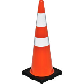 "global industrial™ 36"" traffic cone, reflective, black base, 10 lbs Global Industrial™ 36"" Traffic Cone, Reflective, Black Base, 10 lbs"