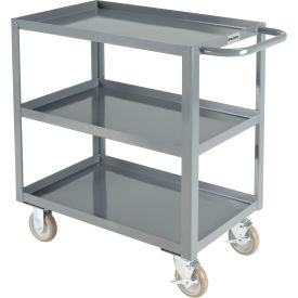 "global industrial™ welded steel utility cart, 3 tray shelves, 18""wx30""l"