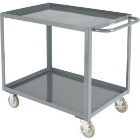 "global industrial™ welded steel utility cart, 2 tray shelves, 24""wx36""l"
