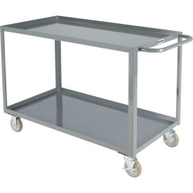 "global industrial™ welded steel utility cart, 2 tray shelves, 24""wx48""l"