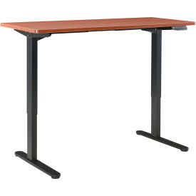 "interion® electric height adjustable standing desk, 72""w x 30""d, cherry w/ black base Interion® Electric Height Adjustable Standing Desk, 72""W x 30""D, Cherry W/ Black Base"