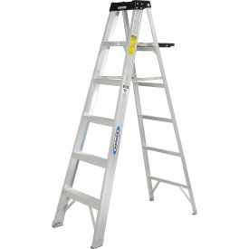 werner 6 type 1a aluminum step ladder - 376 Werner 6 Type 1A Aluminum Step Ladder - 376