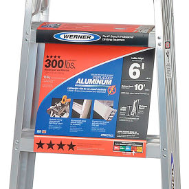 werner 4 type 1a aluminum step ladder - 374 Werner 4 Type 1A Aluminum Step Ladder - 374
