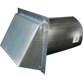SM-RWVD 10 Speedi-Products Galvanized Wall Caps With Spring Damper SM-RWVD 10 10""