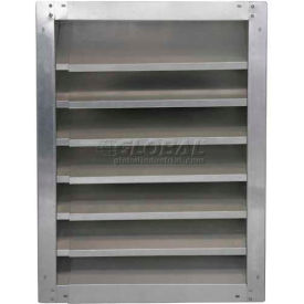 "GAFL 36-2436 High Galvanized Fixed-Height Adjustable Width Louver 36"" - GAFL 36-2436"
