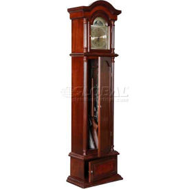 american furniture classics 100 wood the gunfather clock gun storage cabinet, 6 long guns American Furniture Classics 100 Wood The Gunfather Clock Gun Storage Cabinet, 6 Long Guns