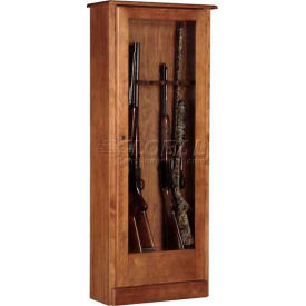 american furniture classics 724-10 wood gun storage cabinet, 10 long guns American Furniture Classics 724-10 Wood Gun Storage Cabinet, 10 Long Guns