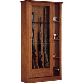 american furniture classics 725 wood curio gun combination storage cabinet, 10 long guns American Furniture Classics 725 Wood Curio Gun Combination Storage Cabinet, 10 Long Guns