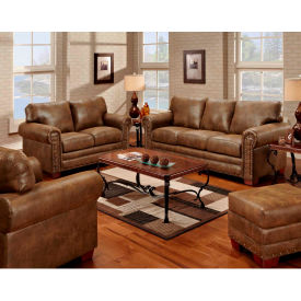 american furniture classics buckskin set, includes sofa, chair & ottoman