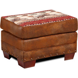 american furniture classics deer valley ottoman, 100% cotton tapestry American Furniture Classics Deer Valley Ottoman, 100% Cotton Tapestry