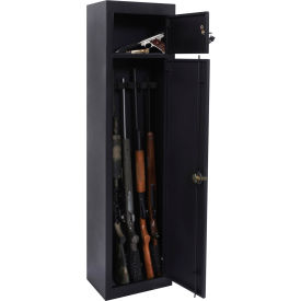"american furniture classics metal security cabinet 906 - 5 gun capacity 15"" x 10"" x 59"" black American Furniture Classics Metal Security Cabinet 906 - 5 Gun Capacity 15"" x 10"" x 59"" Black"