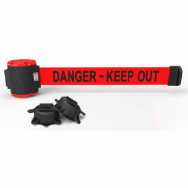 "banner stakes mh5009 - 30 magnetic wall mount barrier, ""danger-keep out"" banner Banner Stakes MH5009 - 30 Magnetic Wall Mount Barrier, ""Danger-Keep Out"" Banner"