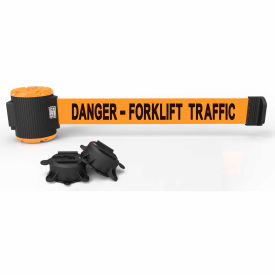 "banner stakes mh5013 - 30 magnetic wall mount barrier, ""danger - forklift traffic"" banner Banner Stakes MH5013 - 30 Magnetic Wall Mount Barrier, ""Danger - Forklift Traffic"" Banner"